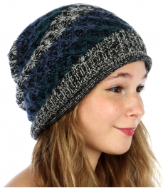 wholesale F21 Marled striped long beanie rolled edge TL