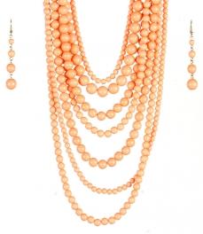 wholesale Long chunky pearl necklace set CO fashionunic