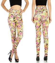wholesale A04 Rose cotton pocket leggings YL M/L