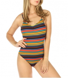 wholesale K97 Striped crossback swimsuit NV/OR