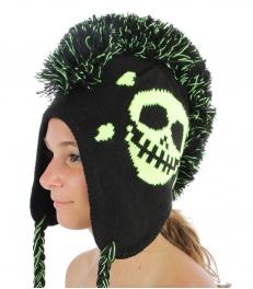 wholesale F01 Skull Neon Mohawk trapper Lime fashionunic