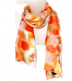 Wholesale WA00 Fuzzy dots print satin scarf