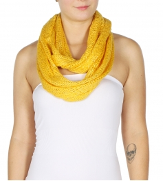 wholesale O22 Knit infinity scarf round sequined MD