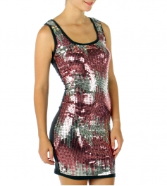 wholesale G32 Sequined wave dress Silver Small