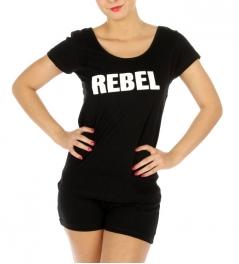 wholesale G42 Cotton REBEL pajama set shorts BK