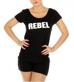 wholesale G42 Cotton REBEL pajama set shorts BK