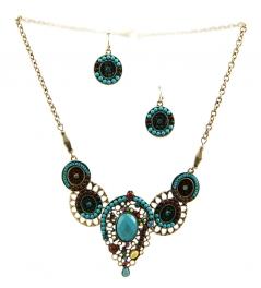 Wholesale L23 Centered stone necklace set GBTQ