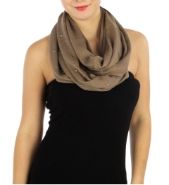 wholesale S18 Metal studs Knit infinity scarf TP