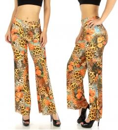 wholesale E14 Floral paisley animal palazzo pants