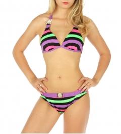 Wholesale K94 Embellished striped halter bikini PP/LM