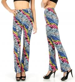 Wholesale B03 Zebra and cheetah softbrush flare leggings