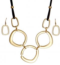 Wholesale WA00 Smooth rectangular rings necklace set MG