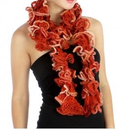 wholesale L35 Mesh knit ruffle scarf OR fashionunic