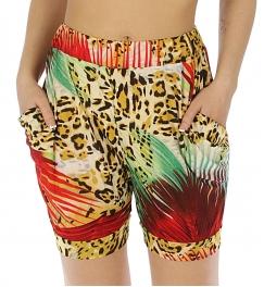 Wholesale M37 Leopard print pants Red/Grey fashionunic
