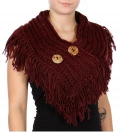 Wholesale P13B Knit Shoulder Cape Scarf Beige