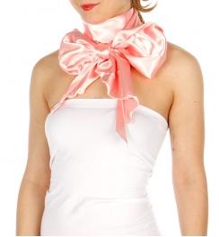 Wholesale P18B Solid Satin Bias Neck Tie Scarf H/PI