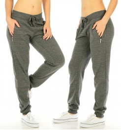 Wholesale K62 Solid jogger pants with zippers H.CH