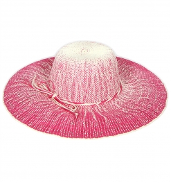 wholesale K58BX2 Gradation dyed paper sun hat Hot pink