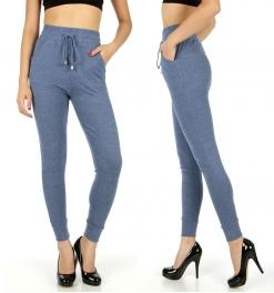Wholesale C29 Solid jogger style leggings Blue