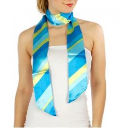 Wholesale G07E Wide Stripe Sash Scarf BL/YE