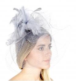 wholesale V04 Feathered fascinator Black fashionunic