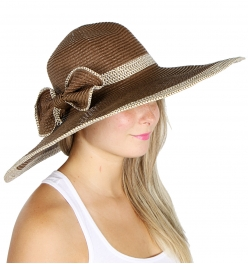 wholesale V11 Dual lined thick corsage paper hat Brown
