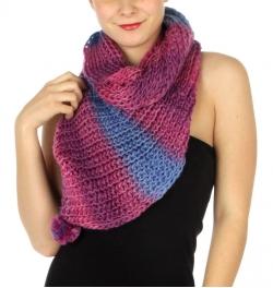 wholesale P21 V bubble color block infinity scarf PP