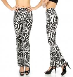 Wholesale B19 Zebra softbrushed softbrush flare leggings