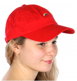 Wholesale V25B New Premium Washed Cotton Rainbow Hat Navy