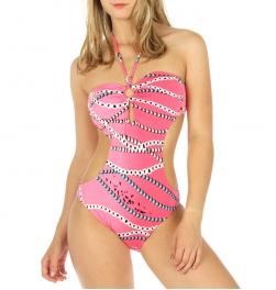 wholesale K96 Halter top monokini swimsuit Pink
