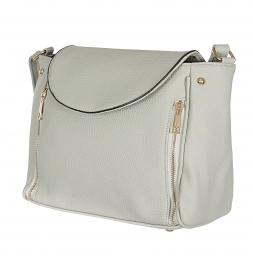Wholesale R82B Double zip tote shoulder bag Black