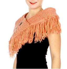 Wholesale O59 Fringed two button infinity scarf BGCL