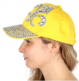 wholesale V07 Fleur De Lis faux crystal cap crystal YL