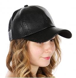 Wholesale Q59B Faux snakeskin baseball cap BLK