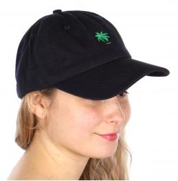 Wholesale V25B New Premium Washed Cotton Palm Tree Hat Navy