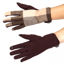 Wholesale N08A Checker touch screen gloves BR
