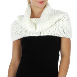 Wholesale T09 Solid knit neck warmer White fashionunic