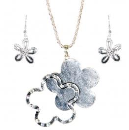 Wholesale L31E Floral pendant necklace AS