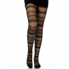 wholesale M01 horizontal stripe fishnet pantyhose
