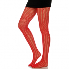 wholesale M00 pattern knee red fishnet pantyhose