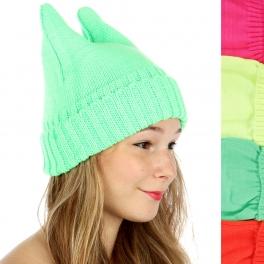 wholesale F13 Cat ear neon ski hat Dozen fashionunic
