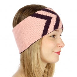 wholesale L04 Knit chevron ear warmers Pink fashionunic