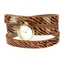 wholesale I71 Three wrap zebra fancy watch Brown