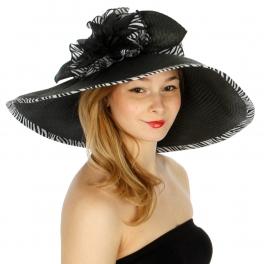 wholesale O50 Floral paper hat Zebra fashionunic