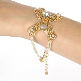 Wholesale N38 Elegant bracelet Gold/White fashionunic