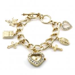 wholesale N37 Mothers charm bracelet watch Gold