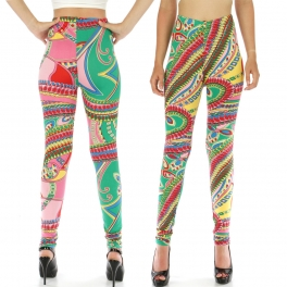 wholesale A35 Donatella Leafy Ferns leggings fashionunic