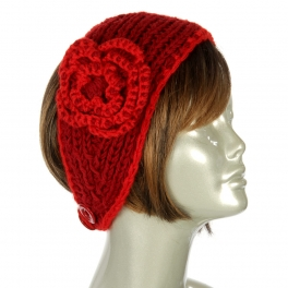 wholesale L25 Flower corsage knit headband Red