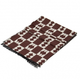 wholesale S05 cashmere Checked Square Geometric Scarf BR