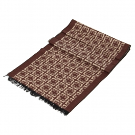 wholesale P22 cashmere Interlaced Squares Scarf BR